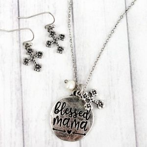 Blessed Mama necklace set